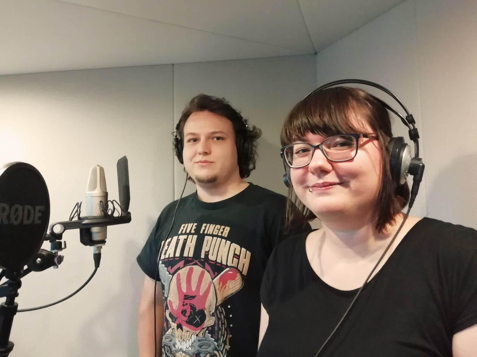 Tore und Amelie im Tonstudio